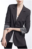 ABS Luxury Collection 'Armando' Square Shoulder Boyfriend Blazer
