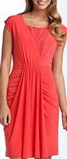 Suzi Chin Maggy Boutique Draped Jersey Dress