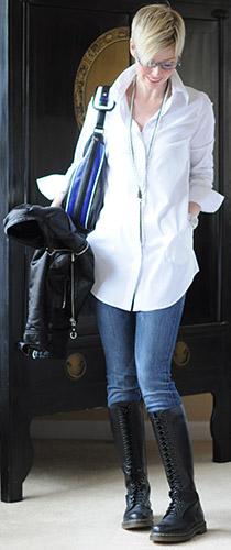 Casual White Tunic Shirt