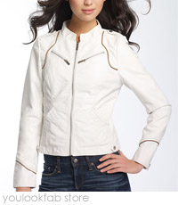 Steve Madden Faux Leather Scuba Jacket