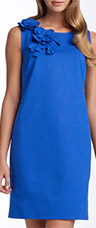 Taylor Dresses Rosette Ponte Knit Sheath Dress