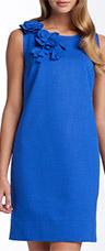 Taylor Dresses Rosette Ponte Knit Sheath Dress