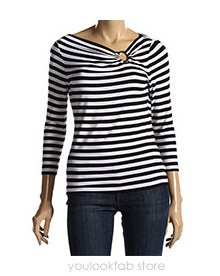 Michael Kors Stripe Icon Circle Top