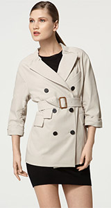 3.1 Phillip Lim Shirred Double Breasted Trench Coat