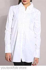 Longline Pintuck Shirt
