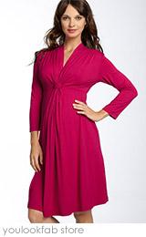 Olian Maternity Knot Front Knit Dress