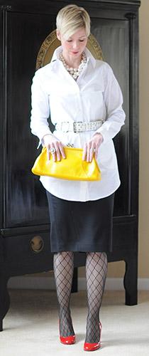 Semi Formal White Tunic