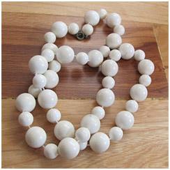 Super Mod White Necklace