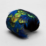 Mali Sabatasso Peacock Feather Dear Skin Cuff in Blue
