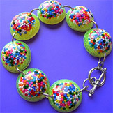 Sprinkle Orbs - Yellow Rainbow Bracelet