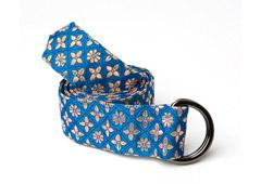 Turquoise Blue Daydream Silk Fabric Belt