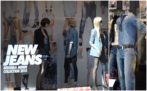 Denim in the Bershka Window