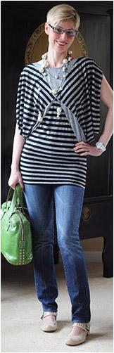 Striped Solemio Sleeveless Dress