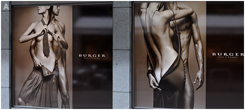 Burger Store Window Bikkembergs