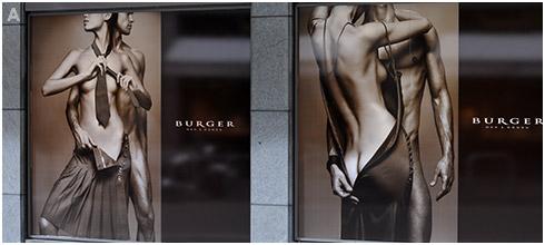 Burger Store Window