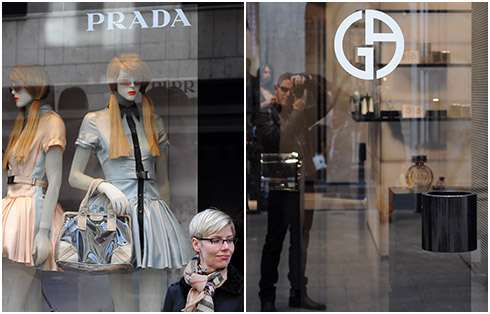 Prada & Armani Windows