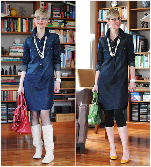 7af3487798a My boxy denim shirt dress for Spring - YLF