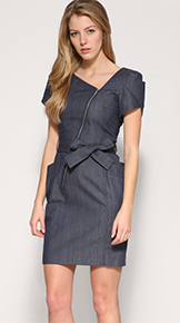 Karen Millen Zip Denim Dress