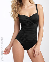 La Blanca Sweetheart One-Piece - Black