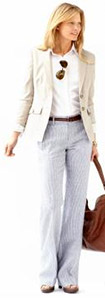 Sleek Suit Jacket & Linen Pant