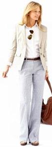 Sleek Suit Jacket & Linen Pant