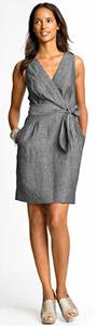 Linen Tie Waist Dress