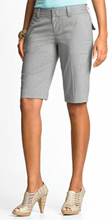 Petite Check Bermuda Shorts