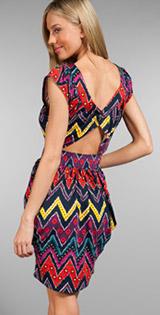 Marc Jacobs Diamond Zig Zag Dress