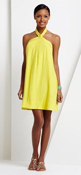 Twill Halter Dress