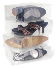 Women's Clear Shoe Boxes