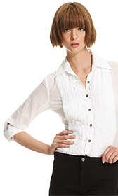 Bailey 44 Cotton Tuxedo Blouse