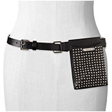 Belt with Studded Pouch