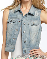 Hinge Stretch Denim Vest