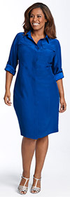 Kenneth Cole New York Silk Shirtdress