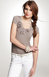 Rosette Necklace Tee