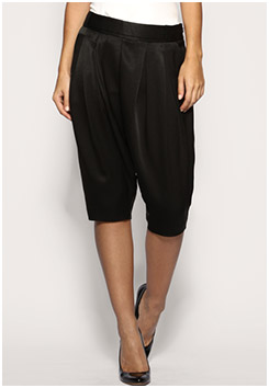 Drop Crotch Shiny Trousers