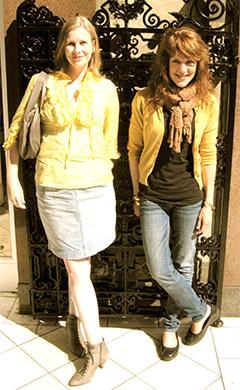 Julie & Jean in Edinburgh