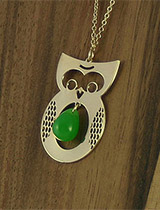 Kris Nations Gold Owl Necklace