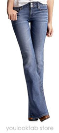 Gap Perfect Boot Jeans (Light Wash)