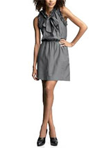 Gap Silky Ruffle Dress