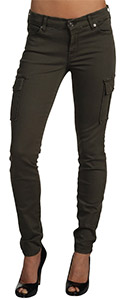 7 For All Mankind Skinny Cargo in Olive Twill