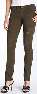 Billy Blue Skinny Stretch Cotton Cargo Pants