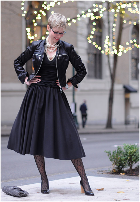 Ball Gown and Biker Jacket