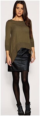 How to Wear a Leather Skirt - YLF