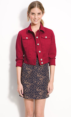 Fab Find: Jolt Cropped Colored Denim Jacket - YLF
