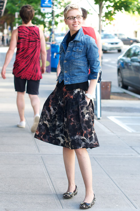 Outfit: Dressy Skirt and Denim Jacket - YLF