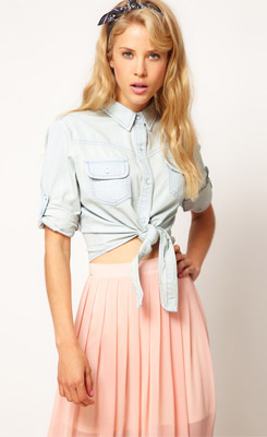 Knotting Your Shirt or Blouse at the Waist