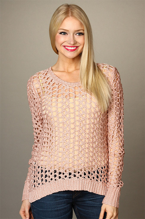 Fab Finds Mesh Sweaters , YLF