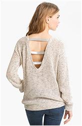 Sheer Lattice Cutout Sweater