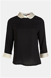 Studded Collar Blouse